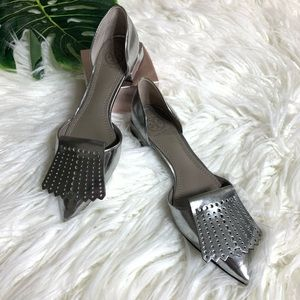 TORY BURCH Hyde D'Orsay Fringe Pointed Toe shoes